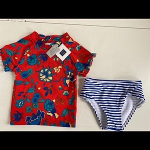 Janie And Jack Girls two piece bathing suit size 3